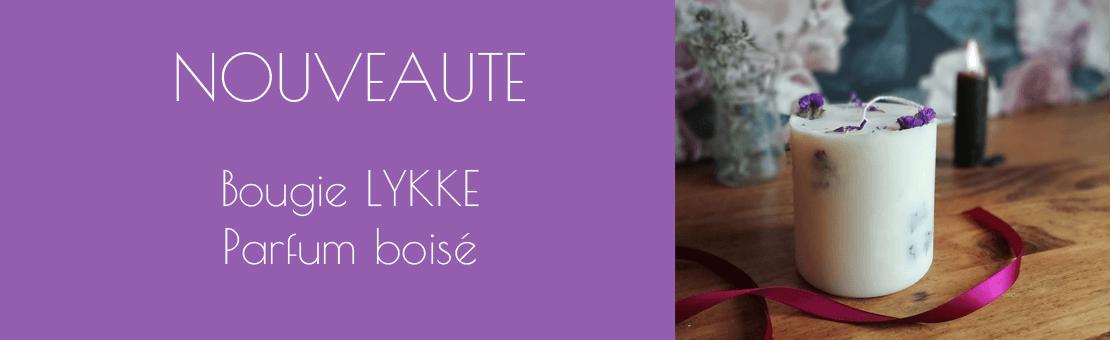 Nouvelle bougie LYKKE - parfum boisé